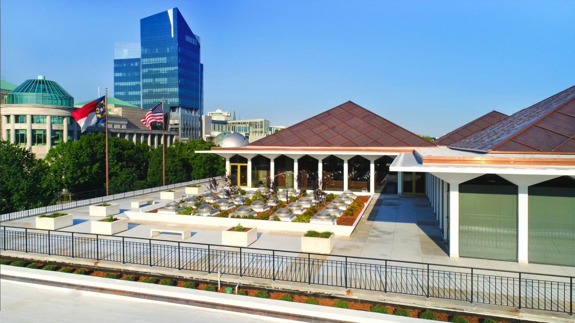 North Carolina Legislative Building copper roof installation