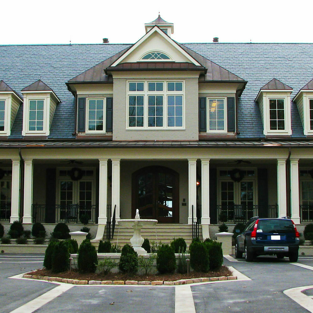 Vermont black slate roof with copper roof panels - featured