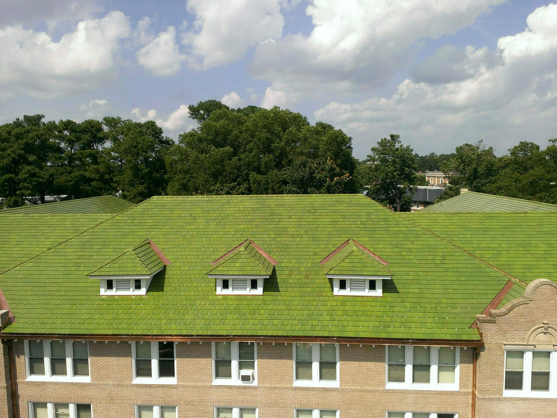 Duke University - Ludowici green tile roofing installation - Durham, NC